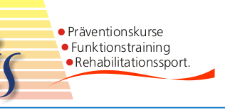 Pr�ventionskurse, Funktionstraining, Rehabilitationssport
